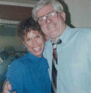 Judy with Phil Donahue
